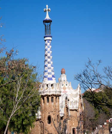 Barcelona Park Guell Gingerbread House of Gaudi modernism fairy tale Stock Photo - 13861400
