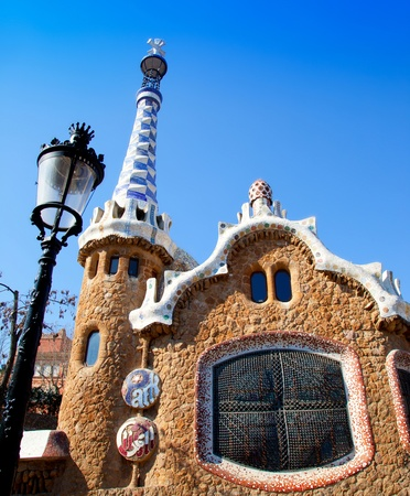 Barcelona Park Guell Gingerbread House of Gaudi modernism fairy tale Stock Photo - 13861356