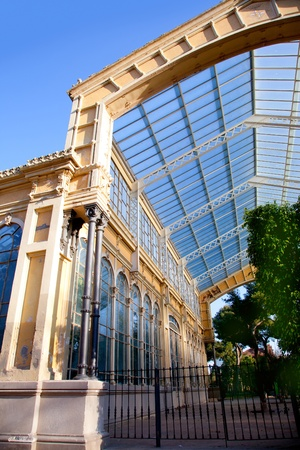 glass ceiling: Barcelona greenhouse in ciudadela Park glass ceiling
