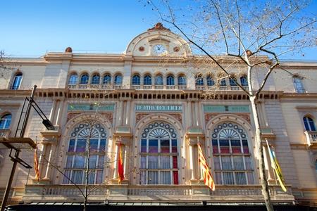the ramblas: Barcelona Gran Teatro del Liceo Liceu facade in ramblas