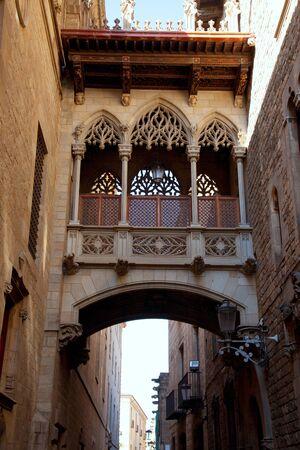 Barcelona Palau generalitat arch corridor in gothic Barrio Stock Photo - 13872934