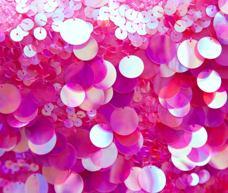Pink sequins pattern texture fashion background Stock Photo - 14242138