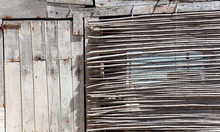 aged grunge gray wood in mediterranean balearic islands photo