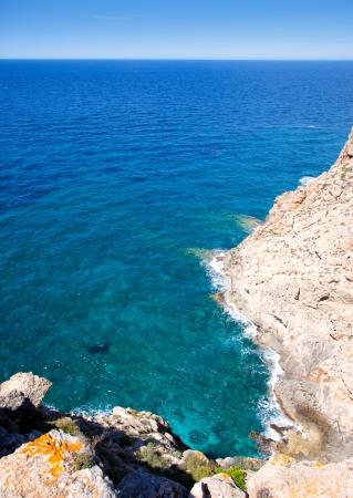 Balearic Mediterranean sea high view from Barbaria Formentera island photo