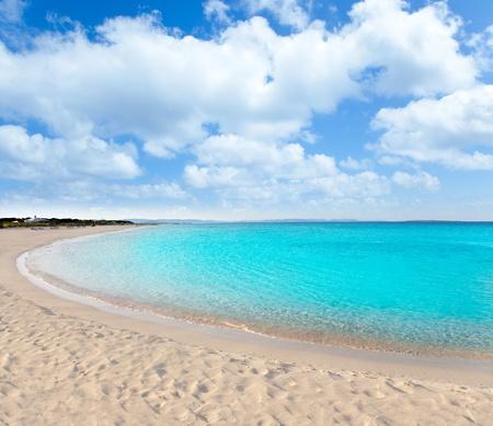 tanga: spiaggia di Llevant formentera playa chiamato tanga Archivio Fotografico