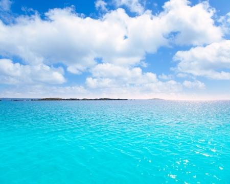 alga: Espalmador Formentera s Alga islet sAlga in turquoise Mediterranean of spain Stock Photo