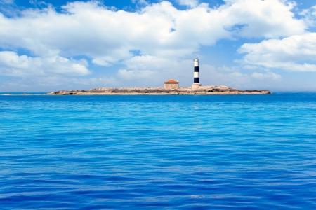 porc: Formentera Freus faro en Pou lighthouse Porcs island de los puercos Stock Photo