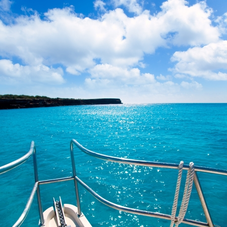 Cala Saona beach in Formentera Balearic islands with turquoise water photo