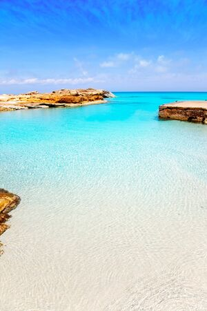 formentera: Es Calo de San Agusti port in Formentera island of Balearic Mediterranean Stock Photo