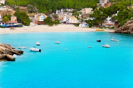 ibiza: Cala Vadella in Ibiza with turquoise water in balearic islands