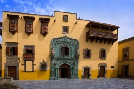 casa colonial: Casa Colón caso Vegueta Casa de Colón en Las Palmas de Gran Canaria España Foto de archivo