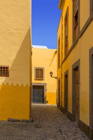 casa colonial: Las Palmas de Gran Canaria Vegueta casa colonial fachadas Espa�a Foto de archivo