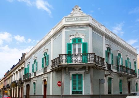 casa colonial: Las Palmas de Gran Canaria Vegueta casa colonial fachadas España Foto de archivo