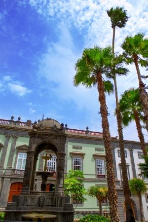 fachadas de casa: Las Palmas de Gran Canaria Vegueta casa colonial fachadas Espa�a Foto de archivo