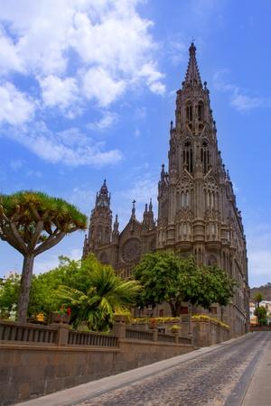 gran canaria: Arucas Gran Canaria San Juan Cathedral Sant John at Canary Islands Stock Photo