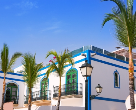 canary island: Gran canaria Puerto de Mogan white houses colonial in canary Islands