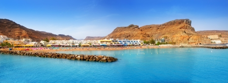gran: Gran canaria puerto de mogan beach in Canary Islands