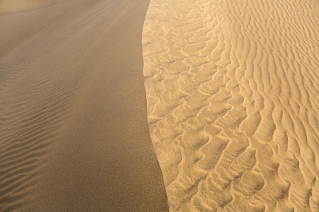 Desert sand dunes texture in Maspalomas Gran Canaria at Canary islands photo