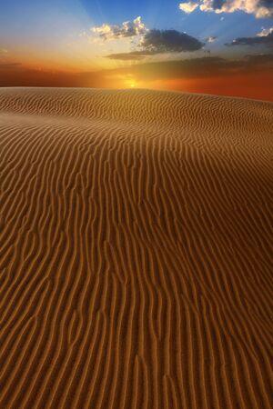 oasis: Desert dunes dramatic sunset in Maspalomas Oasis Gran Canaria at Canary islands
