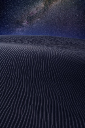 stellate: Desert dunes sand in milky way stars night sky photo mount