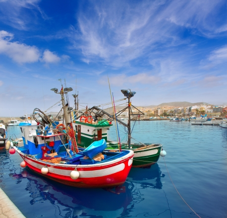 canarian: Arguineguin Puerto port in Mogan Gran Canaria of Canary Islands