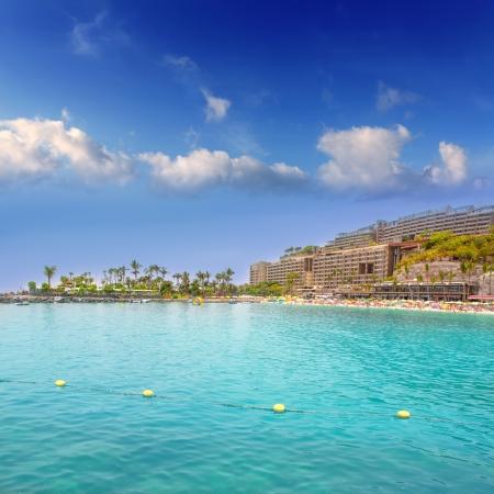 gran canaria: Anfi del Mar Anfidelmar beach in Gran Canaria Canary Islands Stock Photo