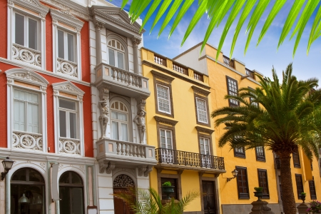 gran: Las Palmas de Gran Canaria Vegueta colonial house facades Spain