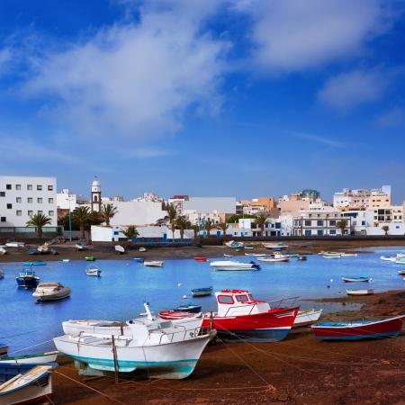 lanzarote: Arrecife in Lanzarote Charco de San Gines boats in Canary Islands