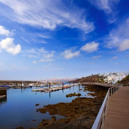carmen: Lanzarote Puerto del Carmen port in Canary Islands Stock Photo