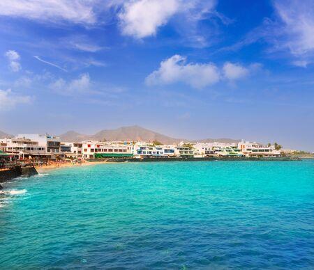 lanzarote: Lanzarote Playa Blanca beach in Atlantic Canary Islands