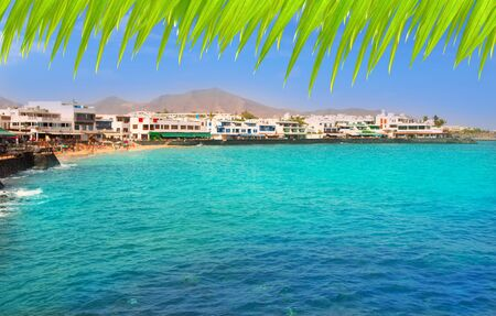 Lanzarote Playa Blanca beach in Atlantic Canary Islands photo