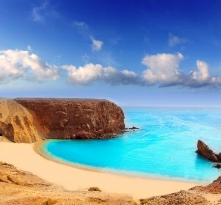 Lanzarote El Papagayo Playa Beach in Kanarische Inseln Standard-Bild