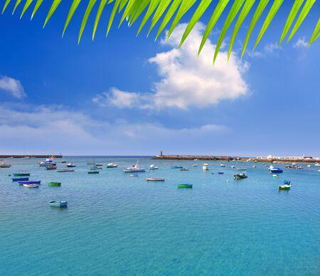 lanzarote: Arrecife Lanzarote boats harbor in Canary Islands