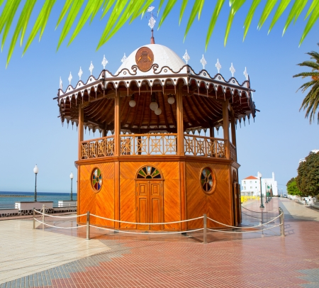 Arrecife Lanzarote Quiosco de la Musica wood circus near sea in Canary Islands Stock Photo - 15272360