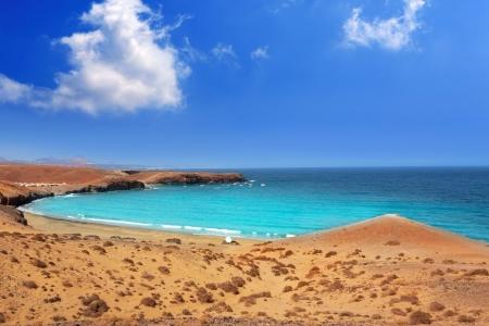 lanzarote: Papagayo caleta del Congrio beach in Lanzarote at Canary islands
