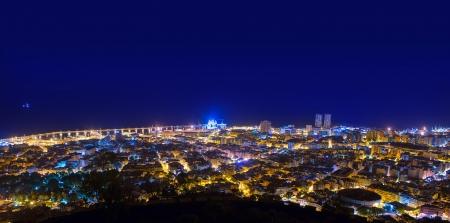 atlantic city: Aerial night in Santa Cruz de Tenerife at Canary Islands