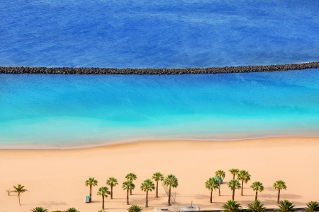 briny: Beach Las Teresitas in Santa cruz de Tenerife north at Canary Islands