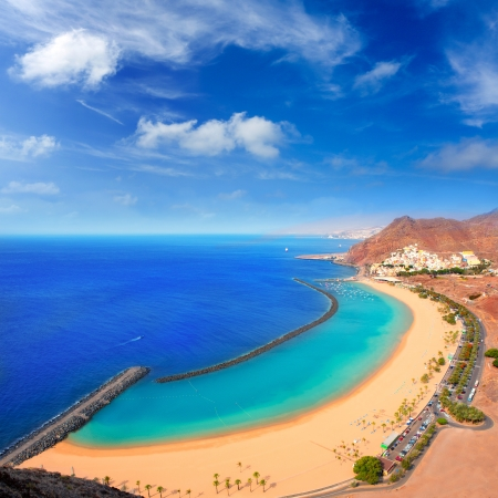 briny: Beach Las Teresitas in Santa cruz de Tenerife north at Canary Islands near San Andres