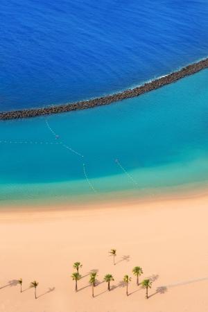 bulwark: Beach Las Teresitas in Santa cruz de Tenerife north at Canary Islands