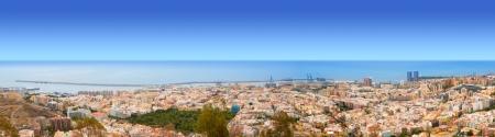 mirador:  Aerial of Santa Cruz de Tenerife panoramic in Canary Islands from Mirador los Campitos Stock Photo