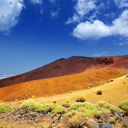 stratovolcano: Canary islands in Tenerife Teide National Park Montana Mostaza mountain
