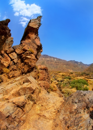 stratovolcano: Canary islands in Tenerife Teide National Park mountains Stock Photo