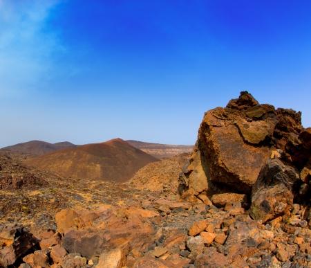 stratovolcano: Canary islands in Tenerife Teide National Park mountain volcanic rocks Stock Photo