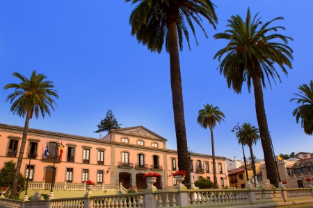 Ayuntamiento square in La Orotava Tenerife at Canary Islands photo