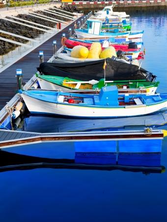 adeje: Los Cristianos harbor boats port in Adeje coast Arona Tenerife
