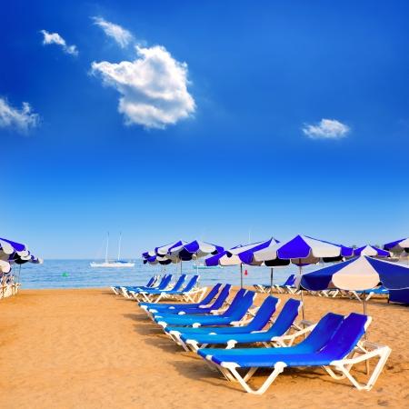 Beach Las vistas in Adeje coast hammocks at Tenerife south Canary Islands Stock Photo - 15275226