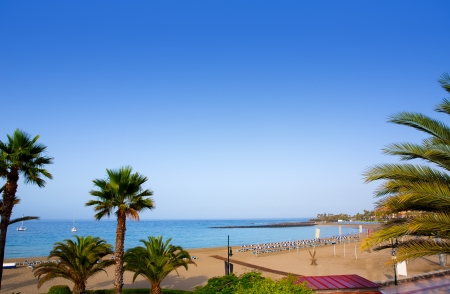 las vistas: Las vistas beach Arona in costa Adeje Tenerife south at Canary Islands