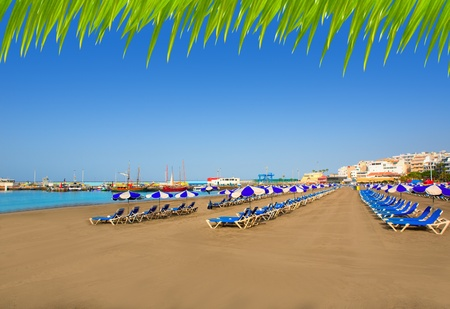 arona: Los Cristianos beach in Arona Tenerife south at Canary Islands