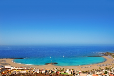 las vistas: Aerial view Las Vistas beach in Arona south Tenerife Stock Photo
