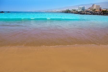 adeje: Las Americas Beach Adeje coast Beach in south Tenerife at Canary Islands